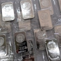 Silver bars from a variety of sources are available at Houston Gold Merchants